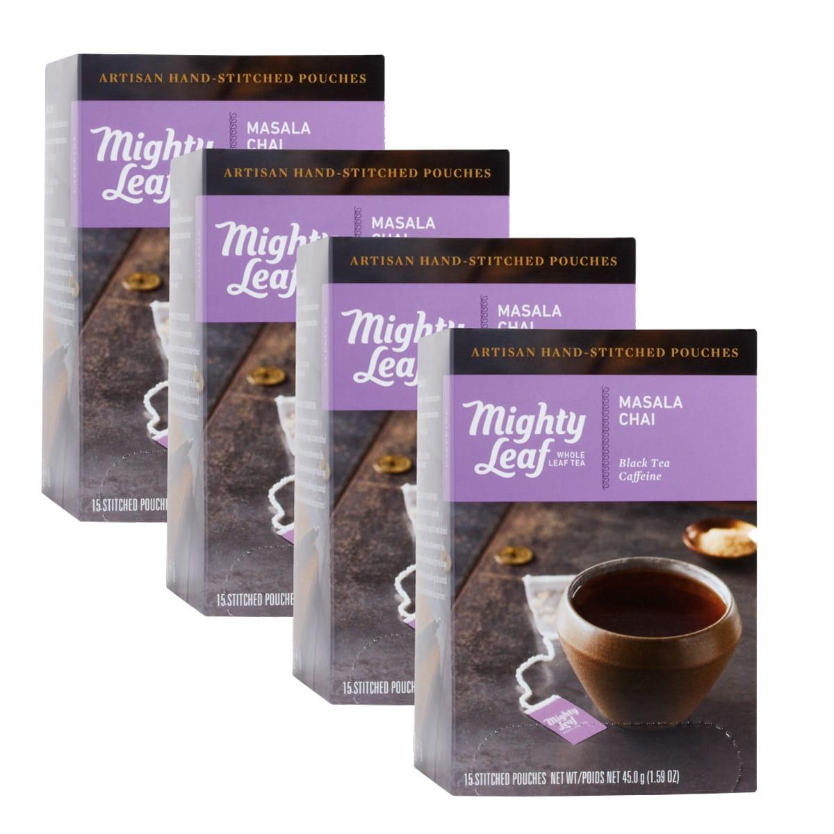よりスパイシーなチャイに マサラチャイ4箱セット 賞味期限2022年5月13日 買い物 マイティーリーフ 紅茶 ティーバッグ メール便 ミルクティー ギフト 奉呈 フレーバーティー チャイ