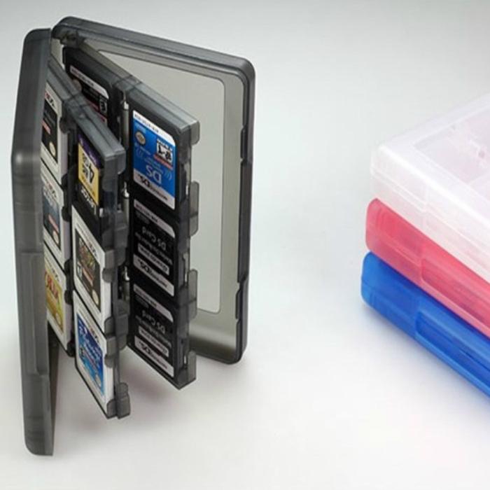 今ダケ送料無料 コンパクトなのに大容量 スーパーSALE 送料無料 ソフト24枚収納 ニンテンドー カードケース 大容量 薄型軽量 クリア素材 ゲームのタイトルが確認可能 ソフト出し入れ 返品送料無料 DSLite Nintendo DSi ピンク カラー:クリア 簡単 ブラック ブルー 3DS 3DSLL