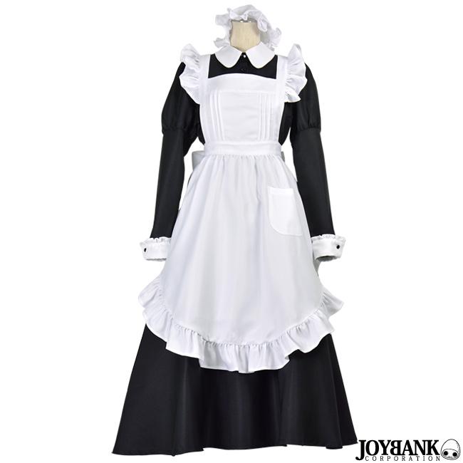 クラシカル ロング メイド服 S/M/L 02000155 長袖 正統派 メイド ハロウィン コスプレ衣装