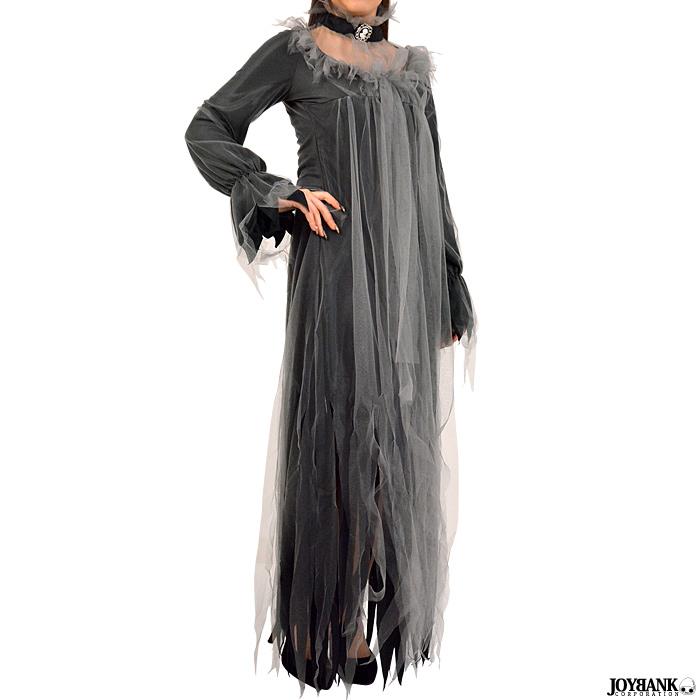 亡霊 ワンピース ドレス 01000811 淑女 黒衣 ゴースト 幽霊 ホラー ハロウィン コスプレ 衣装 仮装