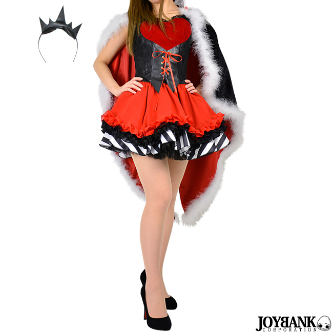 ハートの女王 コルセット スカート S/M/L [8mm] クイーンオブハート 不思議の国のアリス ハロウィン コスプレ 仮装 衣装 童話 01000778