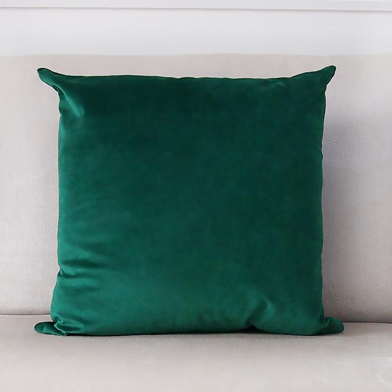 クッションカバー グリーン ベロア 45cm クッションカバー緑色 ベルベッド 黄緑色 新作製品 ブランド品 世界最高品質人気 北欧 緑色
