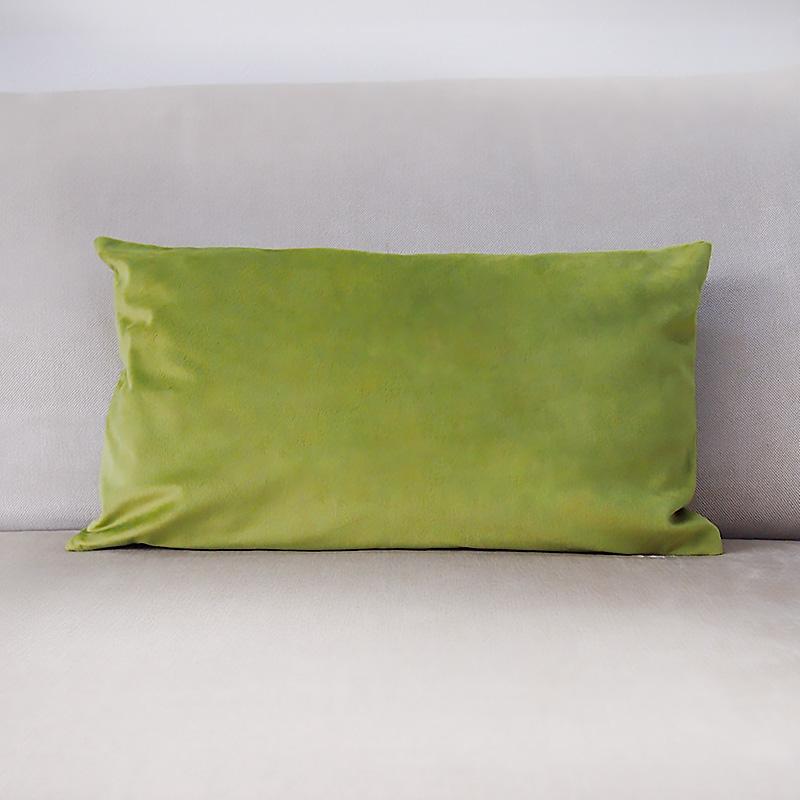 オリーブグリーン ベロア 30cm×50cm 返品送料無料 クッションカバー 北欧 黄緑 緑色 ベルベッド 期間限定