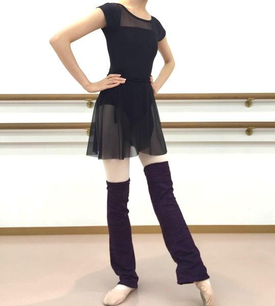 柔らかな肌触り 美脚に見えるレッグウォーマー 正規取扱店 バレエ レッグウォーマー Rubia Wear バレエダンサーがデザインしたレッグウォーマー ルビア 濃いパープル ルビアウェア ショート丈 Sサイズ 春の新作 SoftGrape