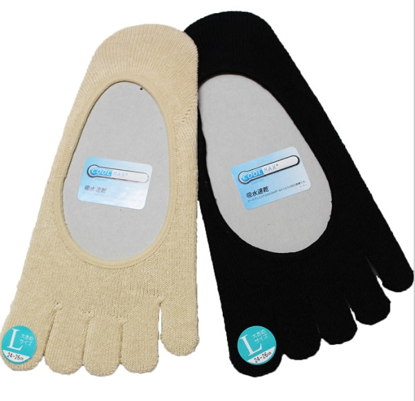 Cool Max☆足指の蒸れを防いでくれます 今季も再入荷 5本指 バレエシューズやトウシューズを履く時にクールマックス加工 国産品 日本製 カバー 靴下 ソックス インナーソックス バレエ ヨガ ミニヨン バレエ用品 トゥシューズ