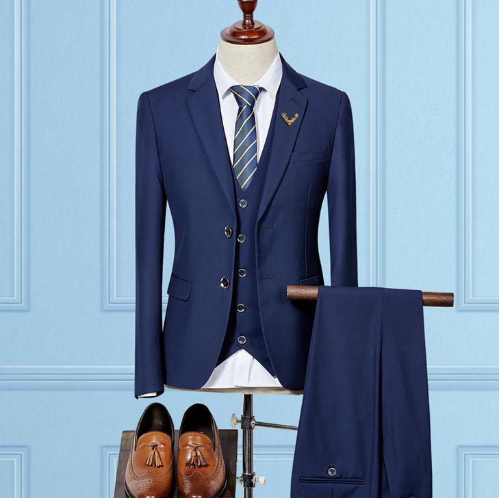 セットアップ メンズ スーツ フォーマル スリム スリーピース 無地 二つボタン おしゃれ トレンド テーラード ビジネススーツ スラックス 通勤 結婚式 紳士服
