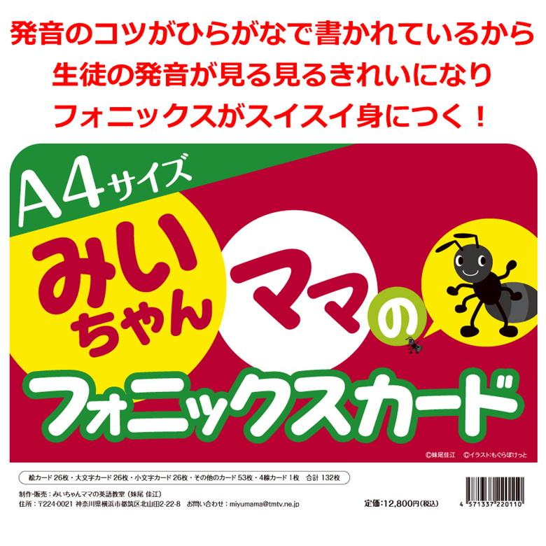 大判A4フォニックスフラッシュカード