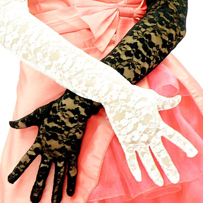 【楽天市場】即納 ロング グローブ,手袋 レースグローブ黒 白 パーティードレス 結婚式 披露宴 2次会 お呼ばれ フォーマル 謝恩会 発表会 演奏会  舞台 ステージ
