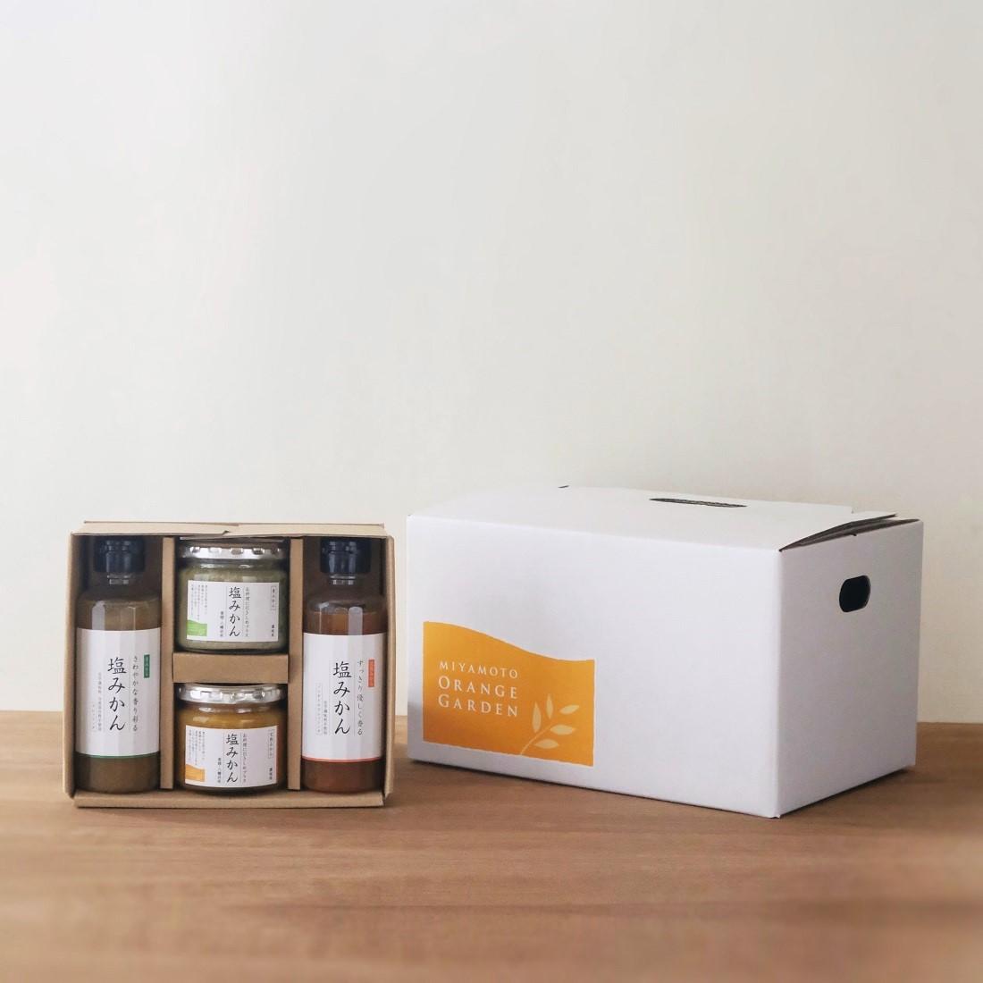 スーパーセール 愛媛の新しい調味料 塩みかん 交換無料 ギフトセット 人気の定番 ドレッシング 敬老の日 4種おまとめセット