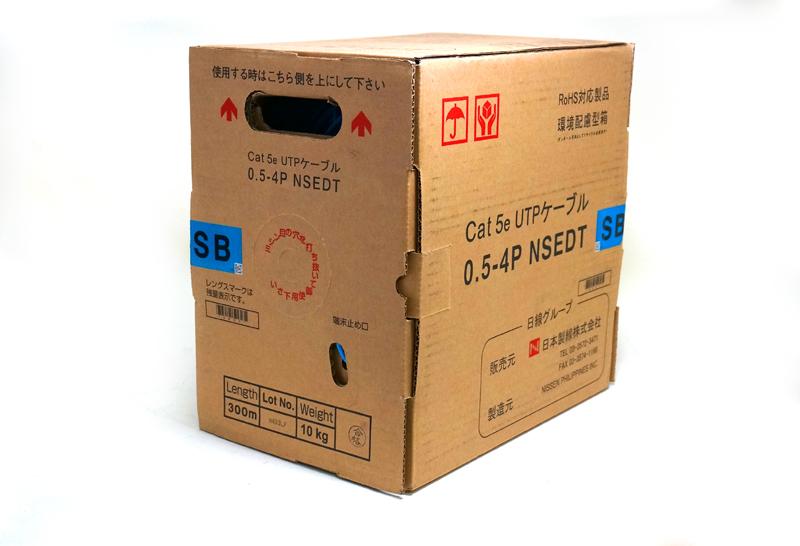 【新品】日本製線株式会社 LANケーブル カテゴリー5Cat5e ケーブル NSEDT 0.5mm×4P 色:SB(スカイブルー)