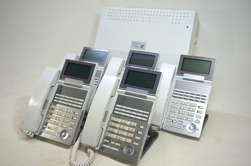 【中古ビジネスホンセット ナカヨ製:tt111】iEシリーズ 主装置Sタイプ1台 2回線用アナログユニット1枚 標準電話機2台