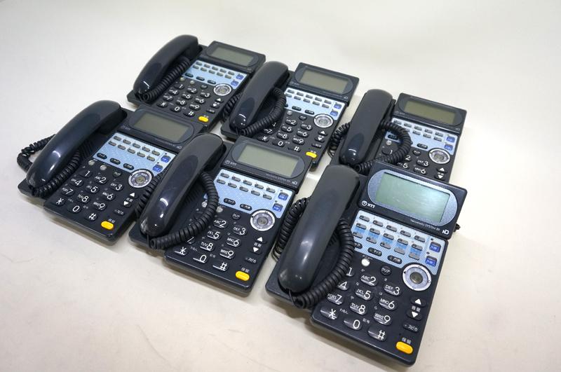 【中古ビジネスフォン NTT製:TT06】NTT BXBX-ISDN用主装置内蔵電話機(黒)1台BX-標準電話機(黒)5台