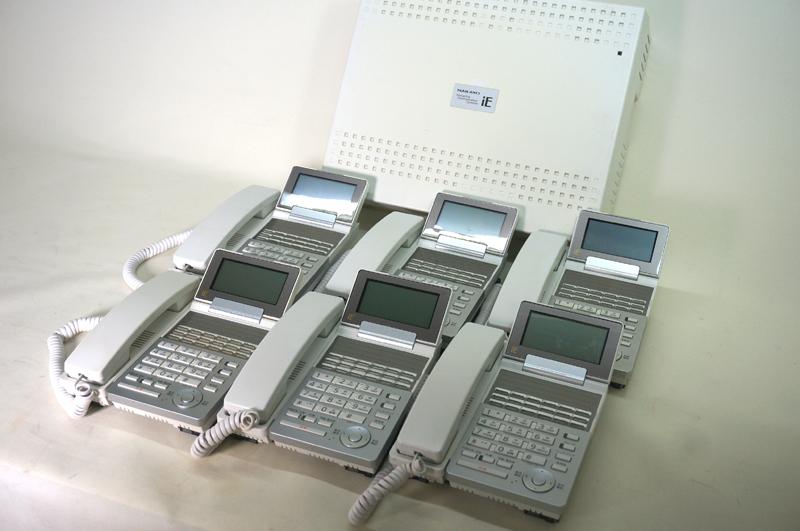 【中古ビジネスホンセット ナカヨ製:tt100】iEシリーズ 主装置Sタイプ1台 2回線用アナログユニット1枚 標準電話機2台