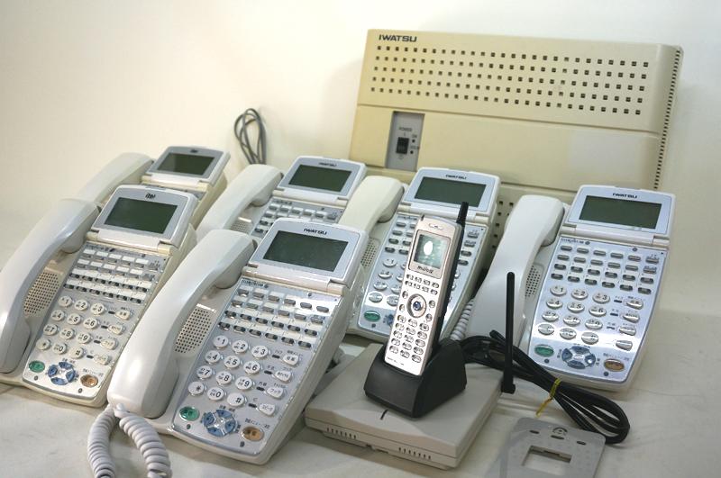 【中古ビジネスホン 岩通製:tt106】WX512 7台セット WX-12KTX-EX6台、DC-PS-7 1台