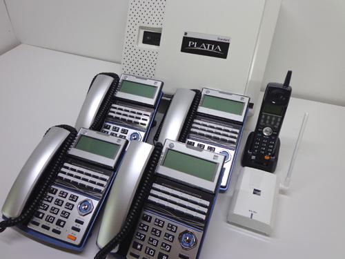 毎月1名様!愛知県の方限定で工事費タダ!【新品】サクサ製・PLATIA4台セットCL付超お得なビジネスフォンセットです!