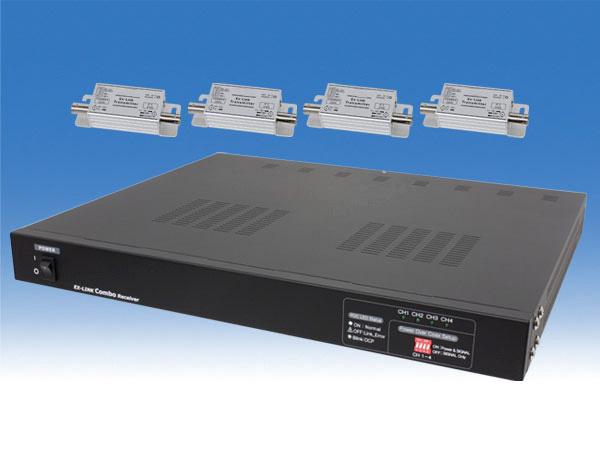 【新品・塚本無線】WTW-LHCP1004D(専用電源、1Uラックマウント取付金具付) ・ワンケーブルユニット 最長320mまでケーブル延長可能 ご注文後のキャンセル、返品、交換は出来ません。