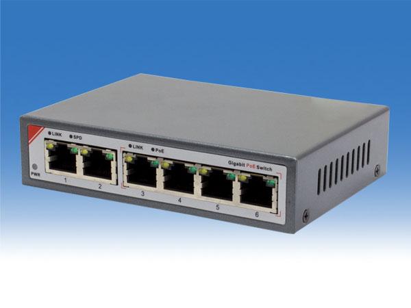 【新品・塚本無線】WTW-PoE-04-15(電源アダプター、取付金具付) ・IPネットワーク用 6ポート PoEスイッチングハブ ご注文後のキャンセル、返品、交換は出来ません。