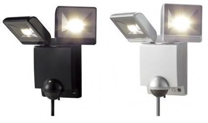 【新品・オプテックス製】ライト/センサライト LEDセンサライト2灯型 LA-22LED(黒・シルバー)発注商品の為ご注文後のキャンセル、返品、交換(初期不良以外)は出来ません。