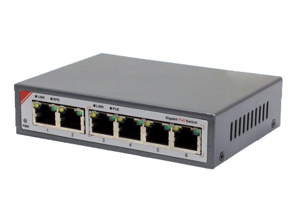 【新品・塚本無線】WTW-PoE-04-25(電源アダプター、取付金具付) ・IPネットワーク用 6ポート PoEスイッチングハブ ご注文後のキャンセル、返品、交換は出来ません。