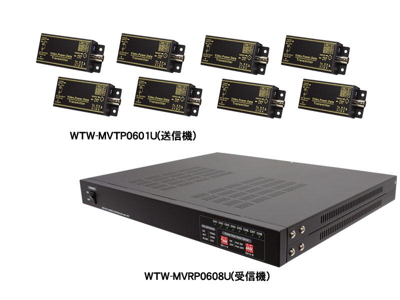 【新品・塚本無線】WTW-MVRP0608U・AHDシリーズ用 8CH型 ワンケーブルユニット(電源重畳装置)受信機単体(電源コード付)発注商品の為ご注文後のキャンセル、返品、交換(初期不良以外)は出来ません。