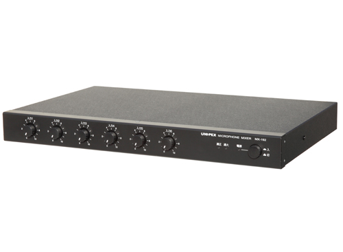 【新品】【UNI-PEX】MX-192 マイクロホンミキサー 構内放送 音響設備