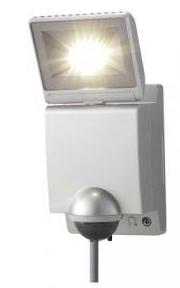 【新品・アツミ電氣(オプテックス)製】LEDセンサーライト1灯型 色:シルバー発注商品の為ご注文後のキャンセル、返品、交換(初期不良以外)は出来ません。