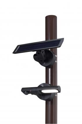 【新品・アツミ電氣(オプテックス)製】センサー調光型ソーラーLED照明 色:ブラック発注商品の為ご注文後のキャンセル、返品、交換(初期不良以外)は出来ません。