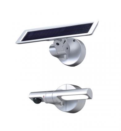 【新品・アツミ電氣(オプテックス)製】センサー調光型ソーラーLED照明 色:シルバー発注商品の為ご注文後のキャンセル、返品、交換(初期不良以外)は出来ません。