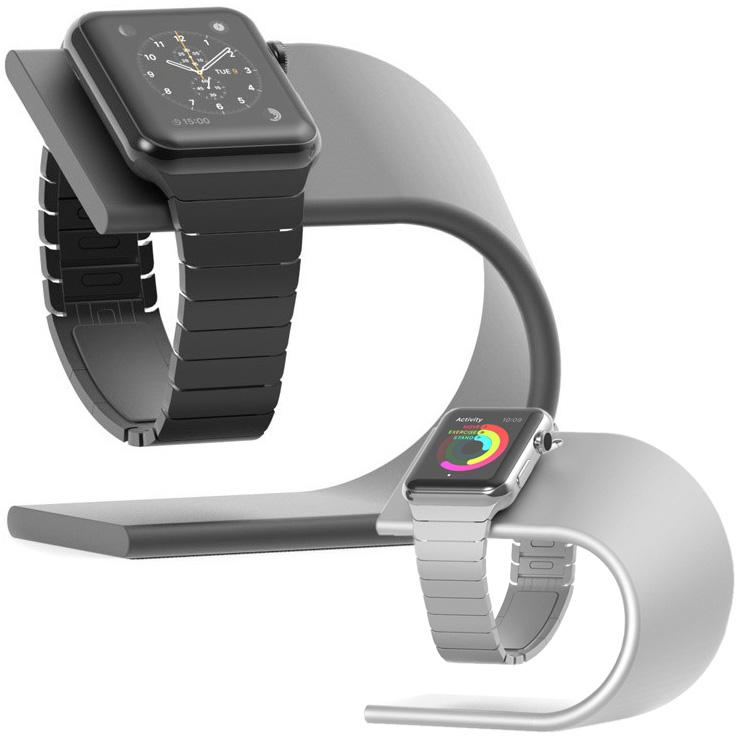 ノマド アップルウォッチ 4 3 2 1 充電 スタンド NOMAD Apple Watch 4 3 2 1 Series 4 3 2 1 Stand 38mm 42mm専用 時計置き 充電器 ベルト 傷防止 充電台 クレードル ドック 送料無料