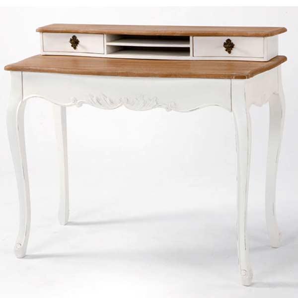 白い デスク 白家具 輸入 イタリアンカントリー フレンチカントリー白い姫系 ロマンチック お姫様 パソコンデスク 机[G2]