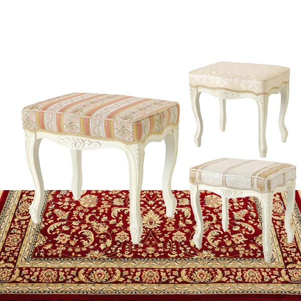 輸入家具お姫様スツール SA-C-1470-W 送料無料  白家具 白い家具 姫系 お姫様hgsa1470w【PR1】[G2]