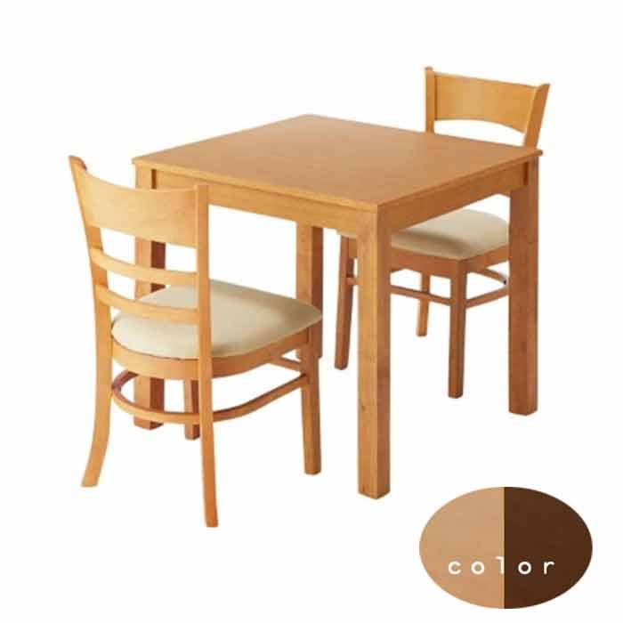 ダイニングテーブルセット 3点 シンプル 2カラー 2人用 コンパクトレザー 送料無料【QSM-240】食卓セット【2D】