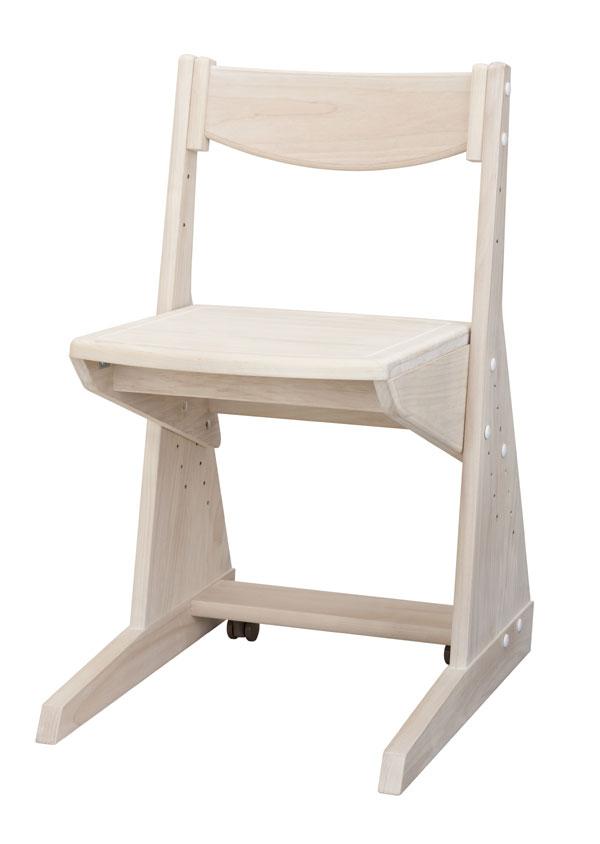 学習チェア ホワイトのみ 日本製 子供椅子 自然風塗料 木の温もりと環境に優しい学習椅子♪ 健康家具 シリーズ専用 学習机用[G2] 【sm-200】t003-m054-pof-chwh【QSM-220】
