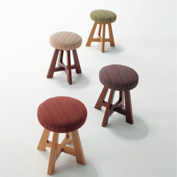 スツール 座面回転式 天然木 椅子  送料無料  デザイナーズチェア 業務用使用可【UR3】【ne】