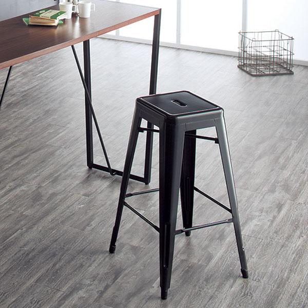 カウンターチェアー【2脚セット】 ブラック スタッキング可能 スタイリッシュモダンデザイン クール オシャレ 送料無料  チェア カウンター用に最適な椅子です!【PR1】cheh-te-cc245d【UR3】【QSM-200】