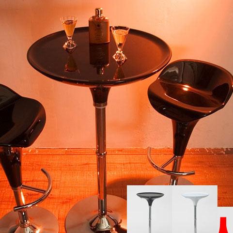 バーテーブル(ブラック、ホワイト) カウンターテーブル ラウンドバーテーブル メーカー直送 【sm-160】 m012-wch6-ktl 【QST-160】