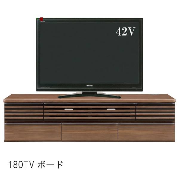 テレビ台 幅180cm 180TVボード ウォールナット材 低床キャスター付き ブラウン リビングボード ローボード TVボード テレビボード  SSG [G2]【QOG-60】  t001-
