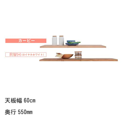 キッチン カウンターテーブル用 天板のみ 奥行55cm 幅60cm 天板(550T-600) ナチュリラ(Naturila)シリーズ キッチンカウンター 受注生産品【PR1】[G2]【QSM-140】