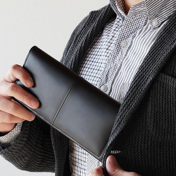 84bb36c51387 薄い 長い財布 ブラック クロ 黒 NO.3698 GARDENS COMPLEX -コタン- 枯淡 ...