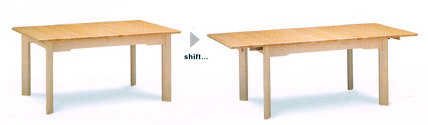 ハンススティーグ、ラウンクハー伸長式テーブル 【さらに表示価格より2%off】W150-197 送料無料[G2]【ne】