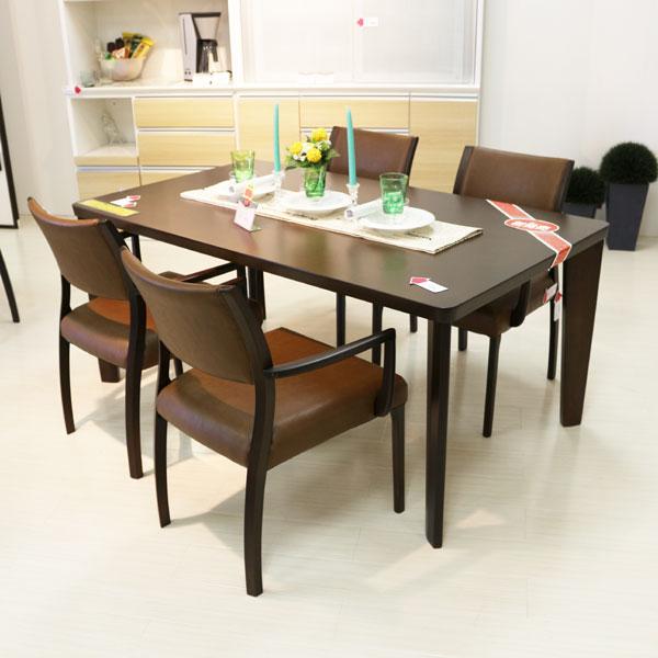 軽い椅子でらくらく ダイニングセット5点 ダイニングテーブル 5点セット オーク材 140幅 天板  送料無料 モダン シンプルmat-batorar5 背張りレザー 食卓セット GMK-dtset【ne】