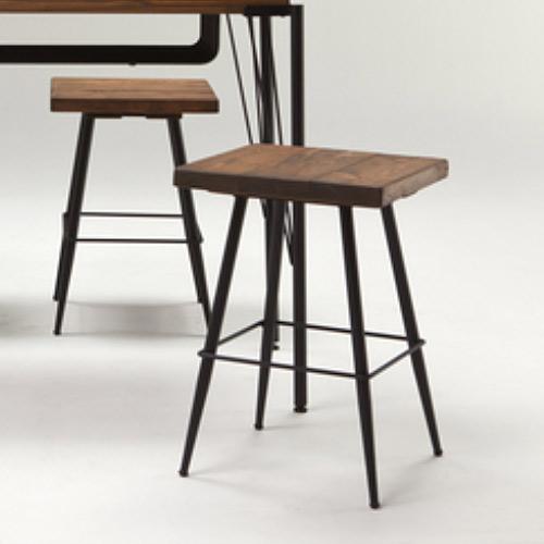ハイチェア ハイカウンター用 ダイニングテーブル H90に最適 古木無垢材 1脚 送料無料 【PR1】レトロ ダイニングチェア GMK-dt【ne】