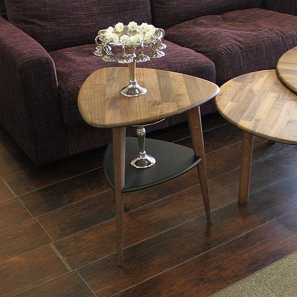 サイドテーブル 幅46cm 無垢材 テーブル 北欧家具 送料無料 【S3】 [G2]【ne】