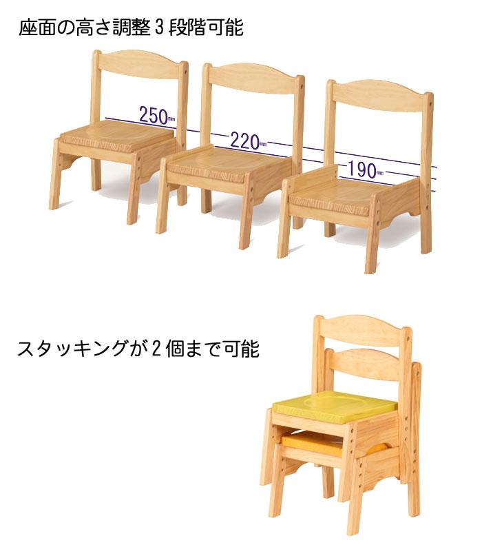 キッズフチェア スタッキング 4カラー カラフル ローチェア 子供椅子 幼児椅子 高さ調整 子供家具 チェア 北欧 かわいい クーポン除外品t002-m040- 【sm-140】【QST-140】