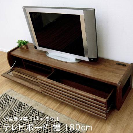 テレビ台 幅180cm 180TVボード 格子 ウォルナット オーク リビングボード ローボード TVボード テレビボード SOK 開梱設置送料無料 [G2]