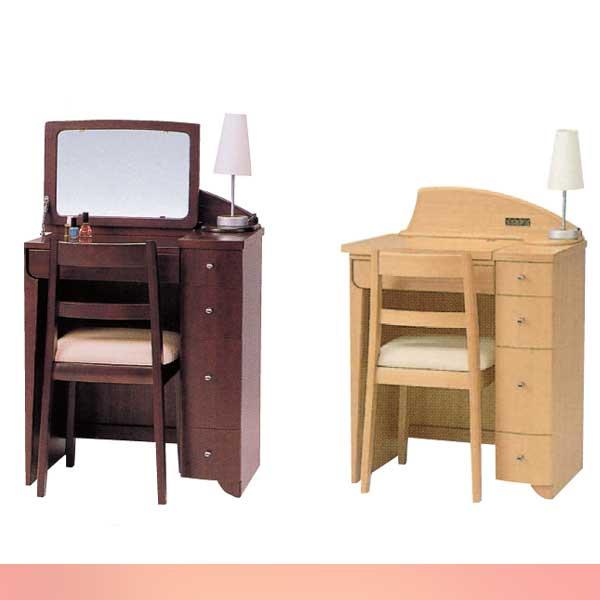 ドレッサー 鏡台 椅子付 照明ランプ付 デスクタイプ ミラー  送料無料 2カラー 日本製 国産品 受注生産:約1ヶ月前後 (mal-) GMK-desk【ne】