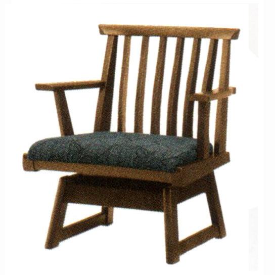 飛騨の家具ナラ無垢材 木楽アームチェア ダイニングチェア 肘付き回転(DCA-S40K) 送料無料 【さらに表示価格より8%off】イバタダイニング 食卓イス 椅子 チェアー[G2]【ne】