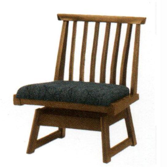 飛騨の家具ナラ無垢材 木楽 肘無し回転 ダイニングチェア(DCL-S40K) 送料無料 【さらに表示価格より8%off】イバタダイニング[G2]【ne】