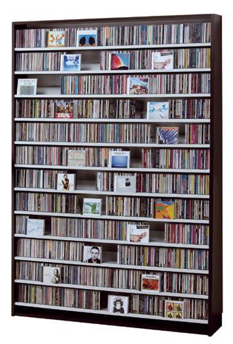最大CD収納枚数1668枚!最大DVD収納枚数720枚!ディスプレイしながら大量収納! 大容量 CDラック  幅139cm  【さらに表示価格より7%off】t005-m135- cs1668 【メーカー直送】