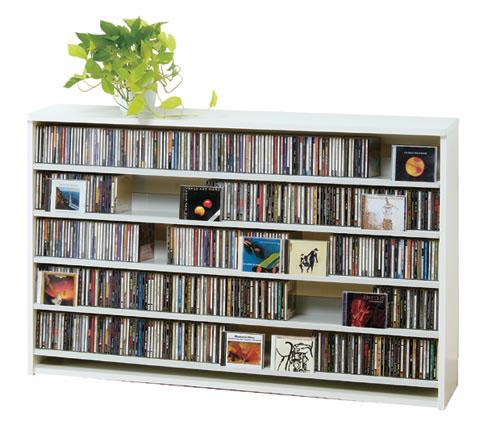 最大CD収納枚数695枚!最大DVD収納枚数180枚!ディスプレイしながら大量収納! 大容量 CDラック  幅139.2cm  【S5】t005-m135- cs695l 【メーカー直送】